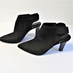 "Tahari Black Leather ""Kicks"" Sling Back Heels"